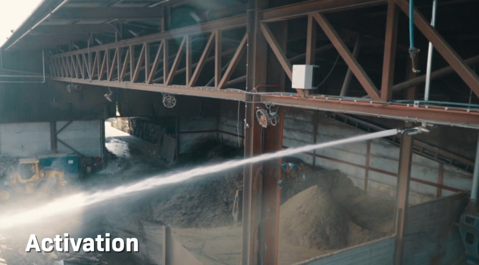 Unifire Force 50 Automatic Fire Monitor at Recycling Plant FlameRanger Video