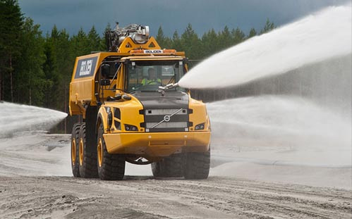 Monitors, Robotic Nozzles and Water Cannons for Mining, Dust Control & Wash-Down by Unifire of Sweden