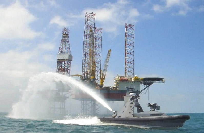 Water Cannon for Unmanned Surface Vessels USV Force monitor robotic nozzle