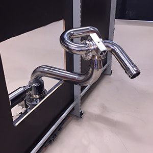 Unifire swing arm for Force robotic nozzles and fire monitors and water cannons