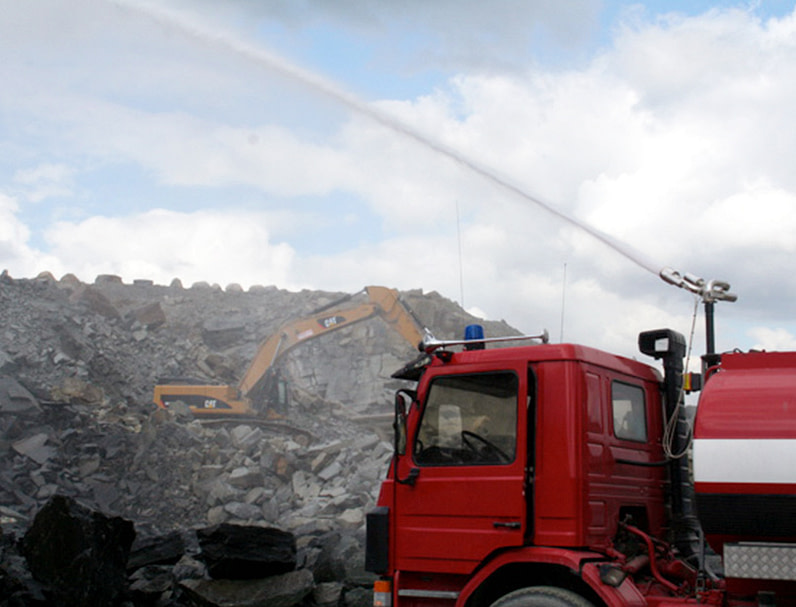 Unifire mining and dust control water cannons and remote controlled monitors in stainless steel 316L